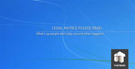 configure legal notices  domain computers  group