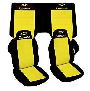 Car Seat Covers Yellow And Black Black And Yellow 2005 Chevrolet Camaro Car Seat Covers
