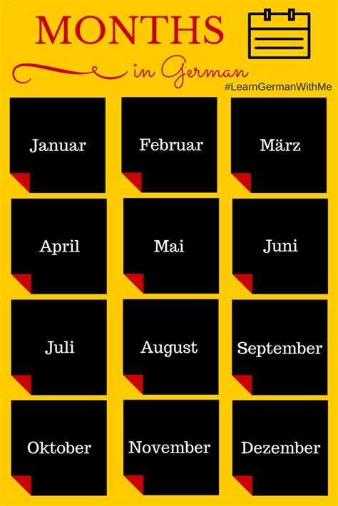 In German by Learn German With Me Months Of The Year In German