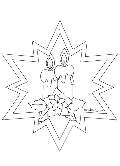 disegni di candele natalizie stella di natale con candele per addobbi natale 25