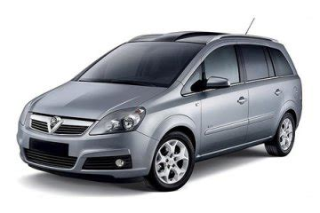 opel zafira 7 seater a c for hire in paphos cyprus