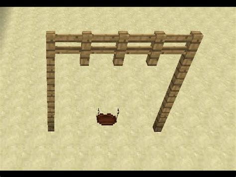 how to make a swing set in minecraft swing set in minecraft youtube