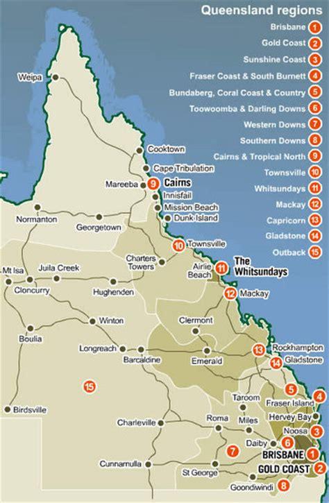 queensland map queensland australia mappery
