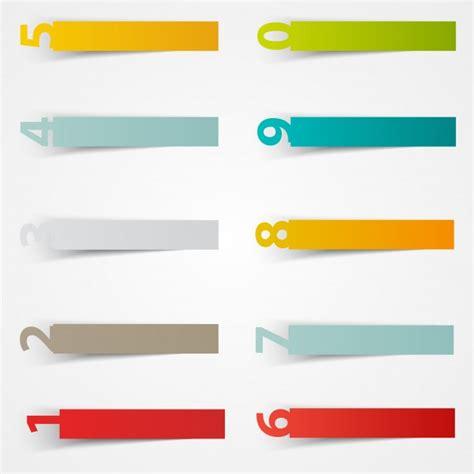Aufkleber Vorlagen Kostenlos by Vector Nummer Aufkleber Vorlage Farbpapier Download Der