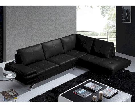 black leather modern sofa modern black leather sectional sofa 44l5970