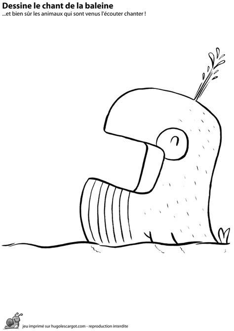 la baleine et lescargote coloriage jeu chant de la baleine sur hugolescargot com