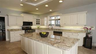 Kitchen With Light Wood Floors - kitchens with brown cupboards kitchens with sienna beige granite beige butterfly granite
