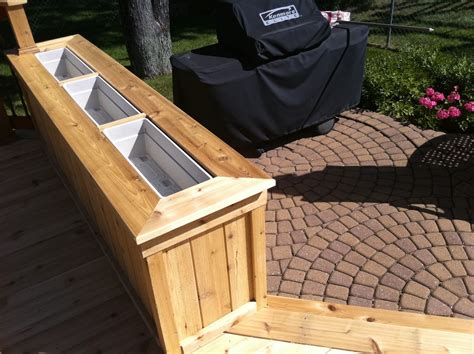 How To Build Planter Boxes For Decks by Deck Rail Planter Boxes Help Children Learn About Plants