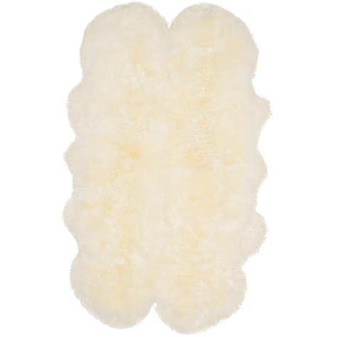 Safavieh Sheepskin White Area Rug Safavieh Sheep Skin White 3 Ft 7 In X 5 Ft 11 In Area