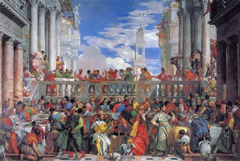 Wedding At Cana By Paolo Veronese Analysis by Les Noces De Cana V 233 232 Se