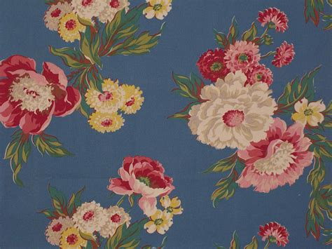 Vintage Inspired Upholstery Fabric by Vintage Fabric Floral Designer Cotton Fabric