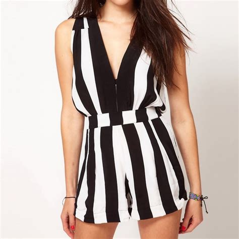 black and white patterned playsuit 74 off motel rocks pants motelrocks black and white