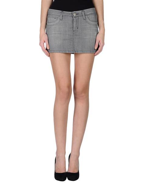 richmond denim denim skirt in gray grey save 74 lyst