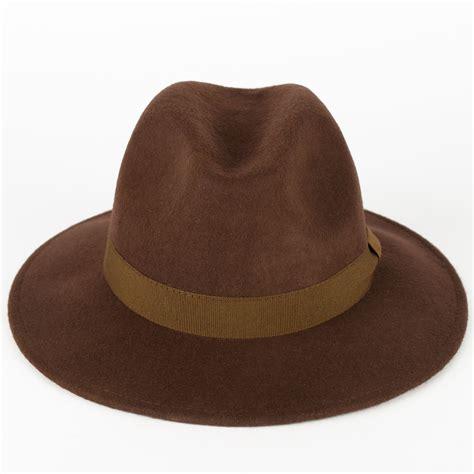 Handmade Wool Hats - 100 wool fedora hat with grosgrain band handmade in italy