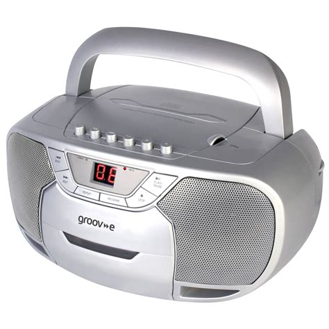cd cassette player groov e gvps823 sr classic boombox portable cd cassette