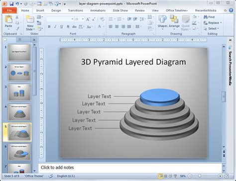 3d diagram software a layer diagram in powerpoint 2010