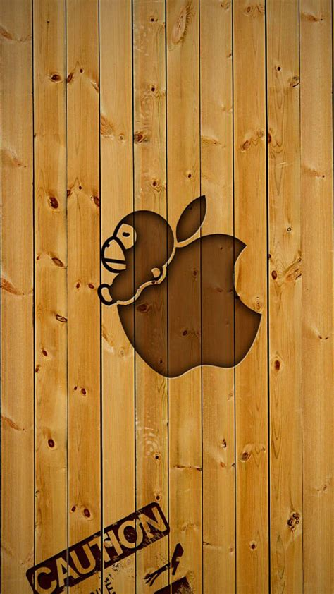 Creative Wood Apple Logo Android Iphone 4 4s 5 5s 5c 6 6s 7 Plus creative wood apple logo android wallpaper free