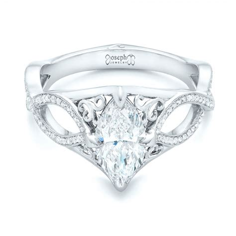custom marquise engagement ring 102731