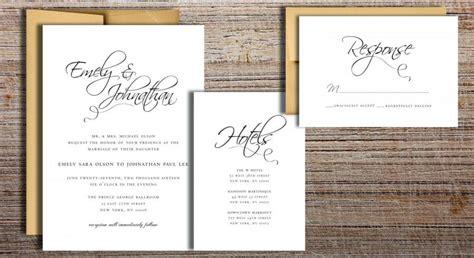 free printable wedding invitation suites flourished script wedding invitation suite printable