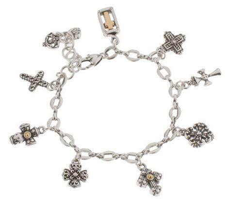 brighton eternity cross charm bracelet qvc