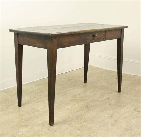 narrow antique chestnut writing table at 1stdibs