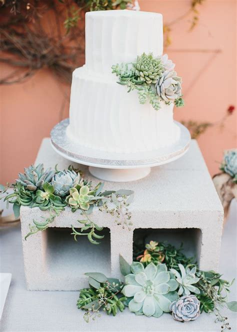 Wedding Cake With Succulents by 30 Succulent Wedding Cake Idea 2015 S Trend