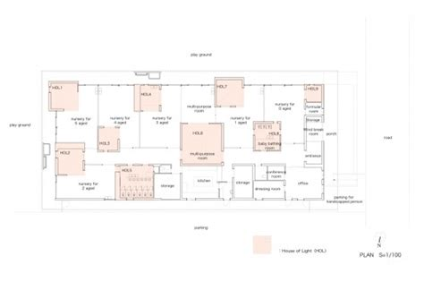 nursery school floor plan the leimond nursery school archivision hirotani studio archdaily