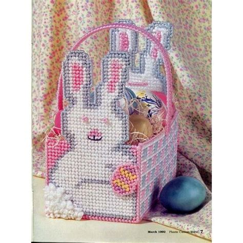 pin easter bunny patterns my on pinterest fridgies flower cross easter bunny basket pins 20 plastic