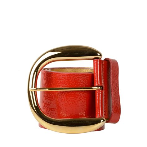 dolce gabbana wide patent leather belt labelcentric