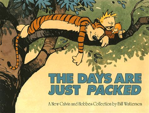 the days are just packed a calvin and hobbes collection calvin and hobbes the days are just packed gif find