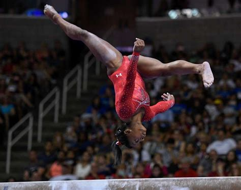 women s gymnastics simone biles cruises into san jose s olympic biles cannot wait to jump off a cliff after rio