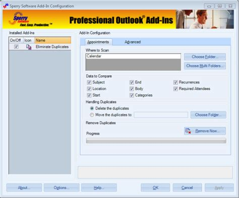 Calendar Remove Images Duplicate Appointments Eliminator Sperry Software
