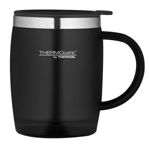 thermos thermocafe 450ml thermal desk mug in black from