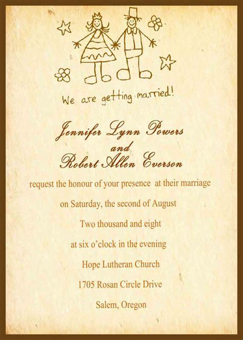 catchy wedding invitation wording wedding invitation card yourweek 235d0eeca25e