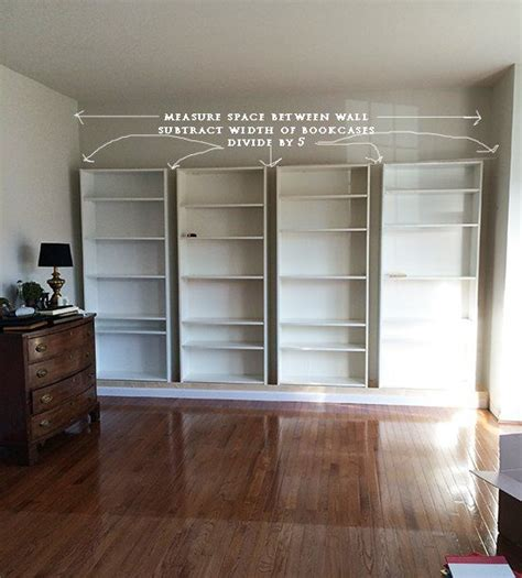 bookcases that look built in create the look of custom built ins with ikea billy