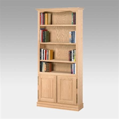 Unfinished Bookcases With Doors A E American Oak Heavy Duty Unfinished Bookcase With