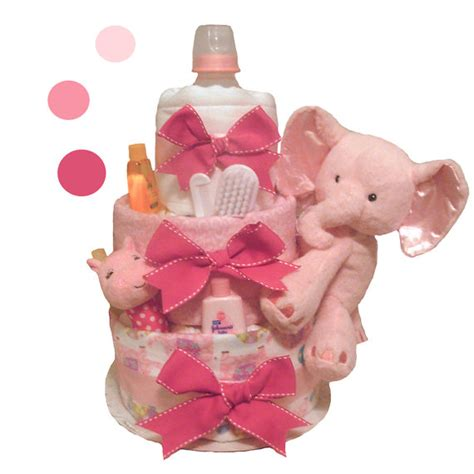 pink elephant baby shower cake pink elephant cake baby shower centerpiece and gift