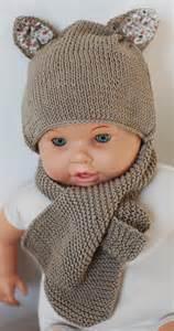 patron tricot bonnet avec oreille