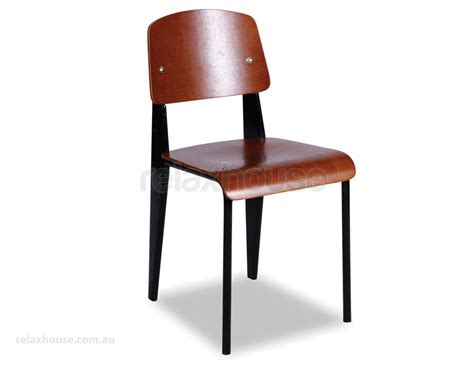 Standard Height Chair by Replica Jean Prouve Standard Chair Black Frame With