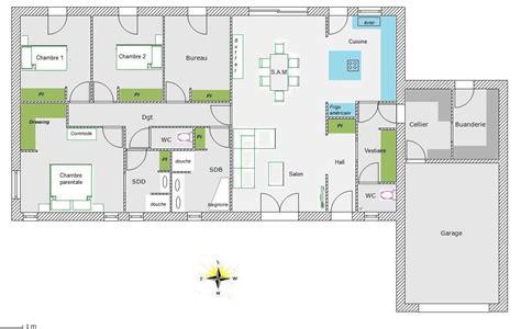 plan maison 4 chambres 騁age plan maison 4 chambres maison moderne