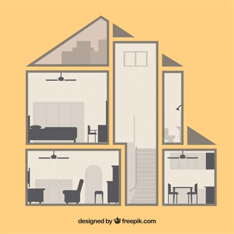 home interior vector vintage home interior in flat design vector free download