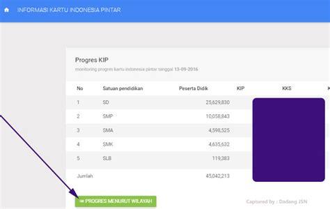 cek dapodik 2016 cara cek progress pengisian kip dari aplikasi dapodik
