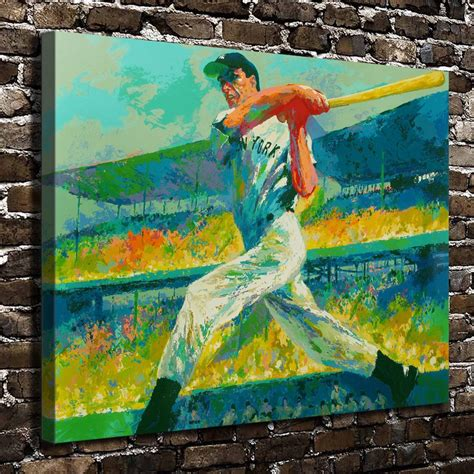abstract hd canvas prints wall art painting home decor a1848 leroy neiman colorful abstract baseball players hd