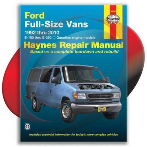 ford full sized vans repair manual 1992 2014 econoline e 150 e 250 e 350 ebay service manual free owners manual for a 2005 ford e series ford full sized vans repair