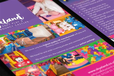 leaflet design derby bright bold design for derbyshire soft play firm kids
