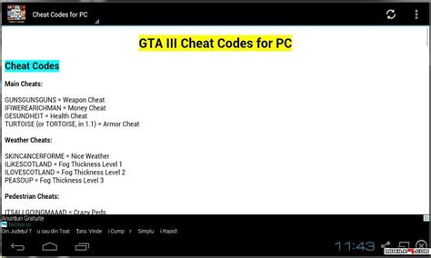 gta 3 android cheats gta iii codes 2015 android apps apk 4416317 gta codes cheats grand