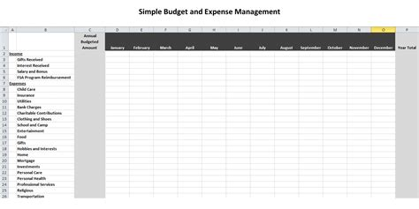 simple budget template beepmunk