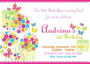 butterfly invitation bright color butterflies birthday