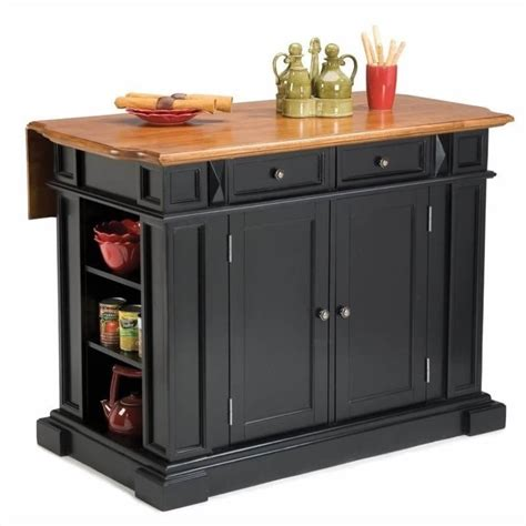 Breakfast Bar Kitchen Islands Home Styles Kitchen Island With Breakfast Bar In Black Ebay
