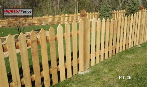 picket fences traditional wood picket fences midwest fence